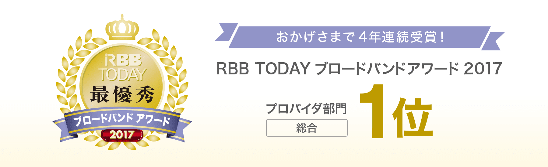 RBB TODAY受賞
